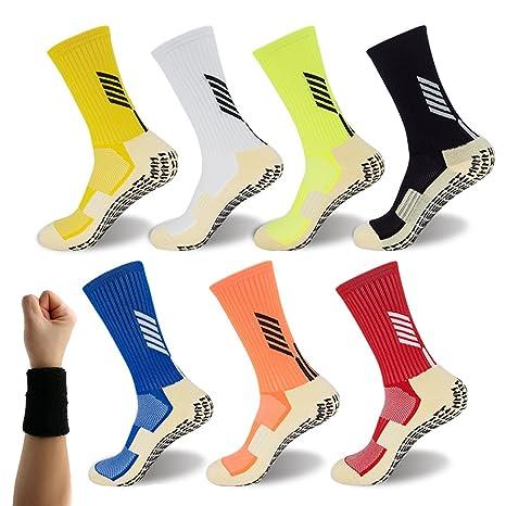 Dee Plus Calcetínes Antideslizantes para Hombre Y Mujer Calcetines Deportivos Algodon Calcetines Unisex – con Antideslizante