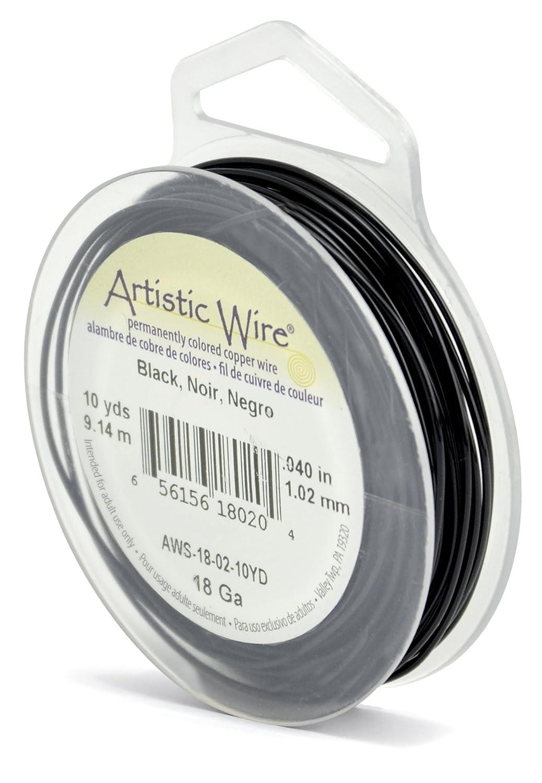 Amazon.com: Artistic Wire 18-Gauge Black Wire, 10-Yards