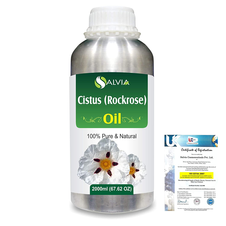 Cistus (Rockrose) (Cistus ladaniferus) 100% Natural Pure Essential Oil 2000ml/67 fl.oz. B07R3ZFFRH