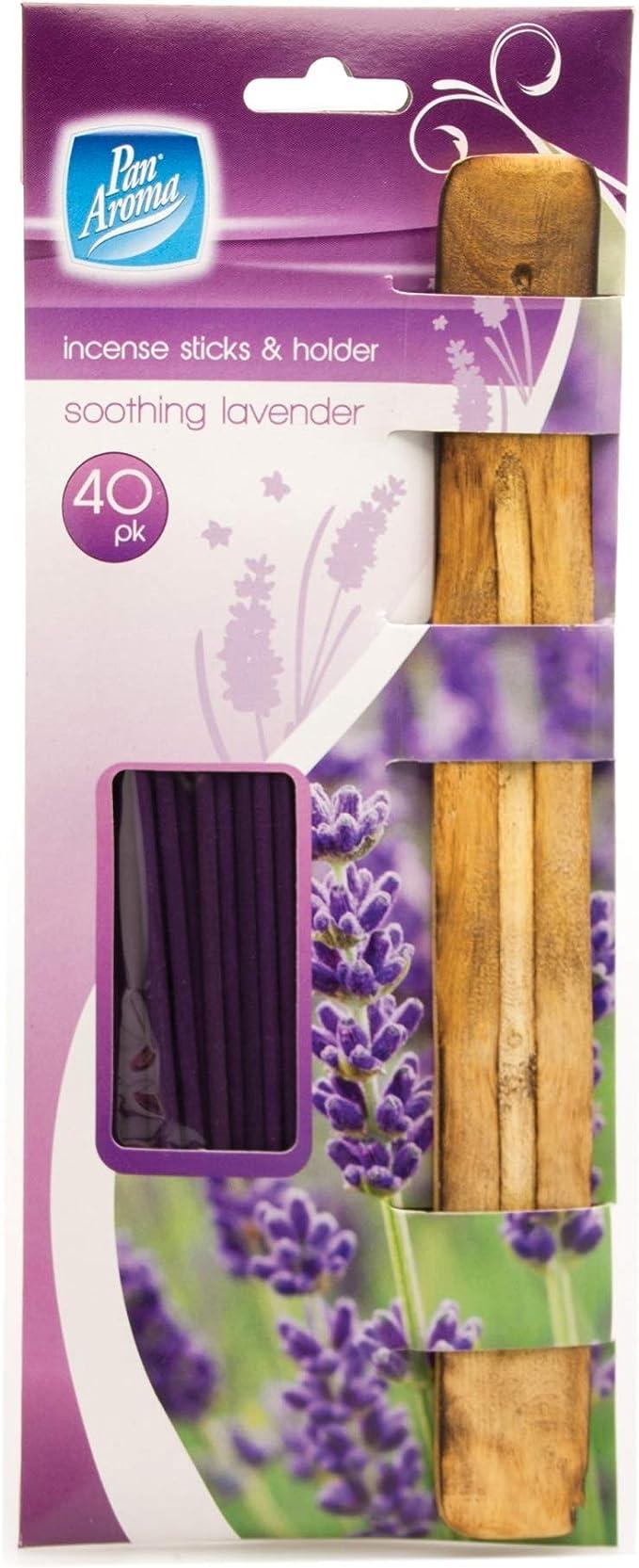 Pan Aroma 40 Räucherstäbchen Mit Aschefänger Aus Holz Lavendel