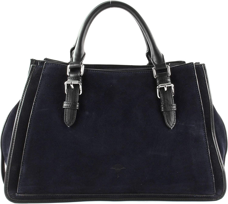 Joop! Damen Feriale Mimma Handbag MHz Henkeltasche, 23x13.5x36 cm Blau (Darkblue)