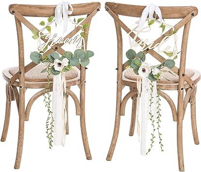 Amazon.com: Lings Moment - Carteles para sillas de boda ...