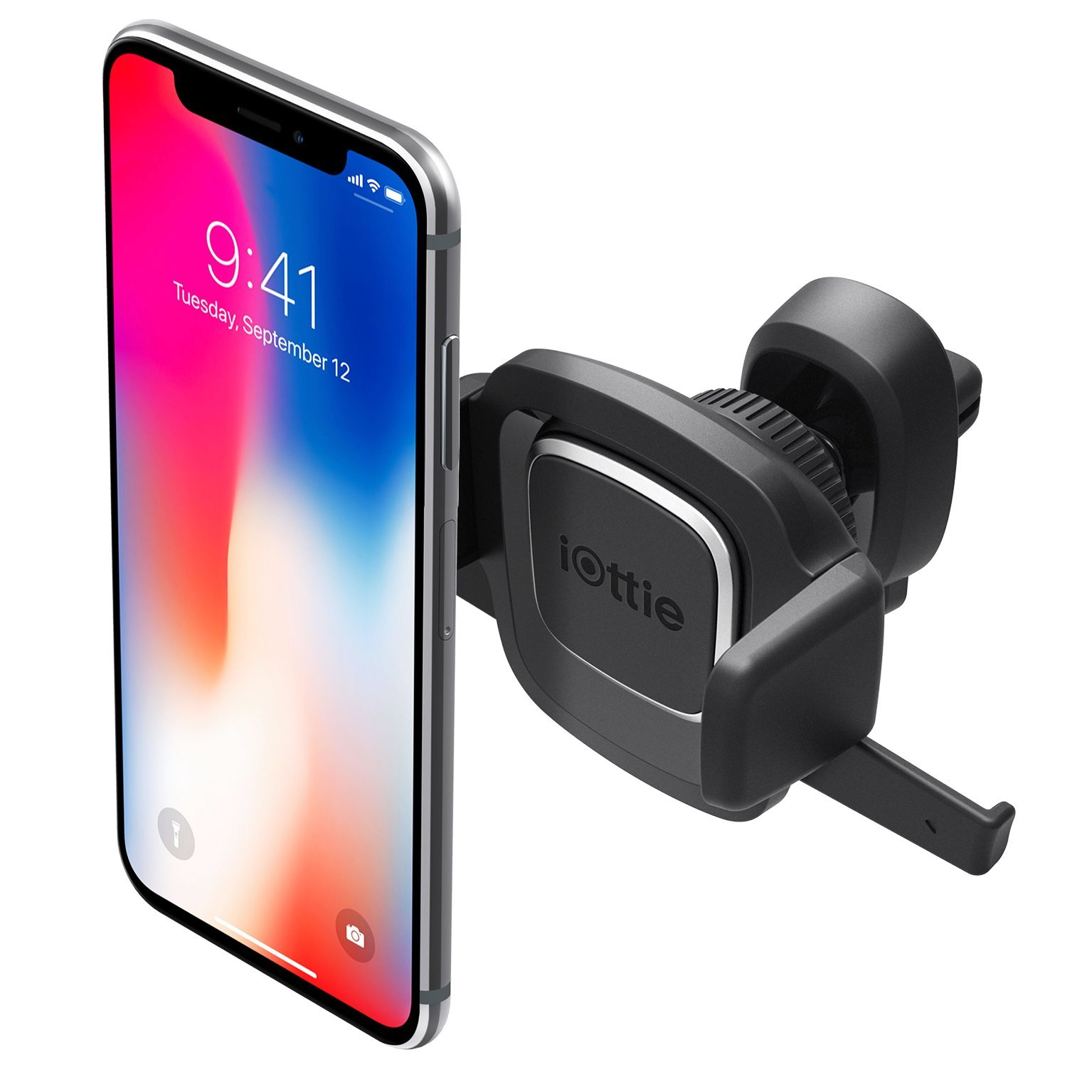 iOttie Easy One Touch 4 Air Vent Car Mount Phone Holder for iPhone X 8 Plus 7 Samsung Galaxy S9 S8 Edge S7 Note 9 & Other Smartphone [10 Dollar Amazon Credit]