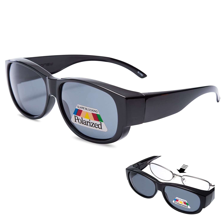 Amazon.com  EYEGUARD Fit Over Prescription Glasses Women Oversized Fashion  Polarized Sunglasses  Clothing ccf45ef2e9