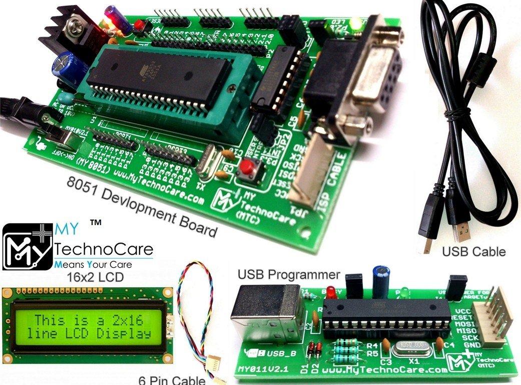 Buy My Technocare 8051 Development Board Zif Socket Li Ion Battery Charger Circuit Balancing Attiny26 Lcd Lipo Max232 At89s52 Microcontroller Ic 16x2 Yellow Backlight Atmel Avr Usb Asp Isp