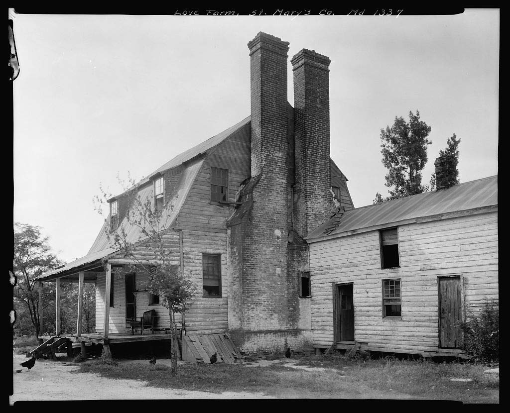 Vintography 16 x 20 Reprinted Photo of Southern Architectural Love Farm, Morganza vic, St. Mary39;s County, Maryland 1939 Johnston Frances Benjamin 44a