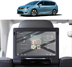 [2PCS] Screen Protector Foils for 2017-2020 Chrysler Pacifica 10In Rear Seat Screen Display Tempered Glass 9H Hardness Anti Glare & Scratch HD Clear LCD GPS Touch Screen Protective Film (Rear Seat Screen)