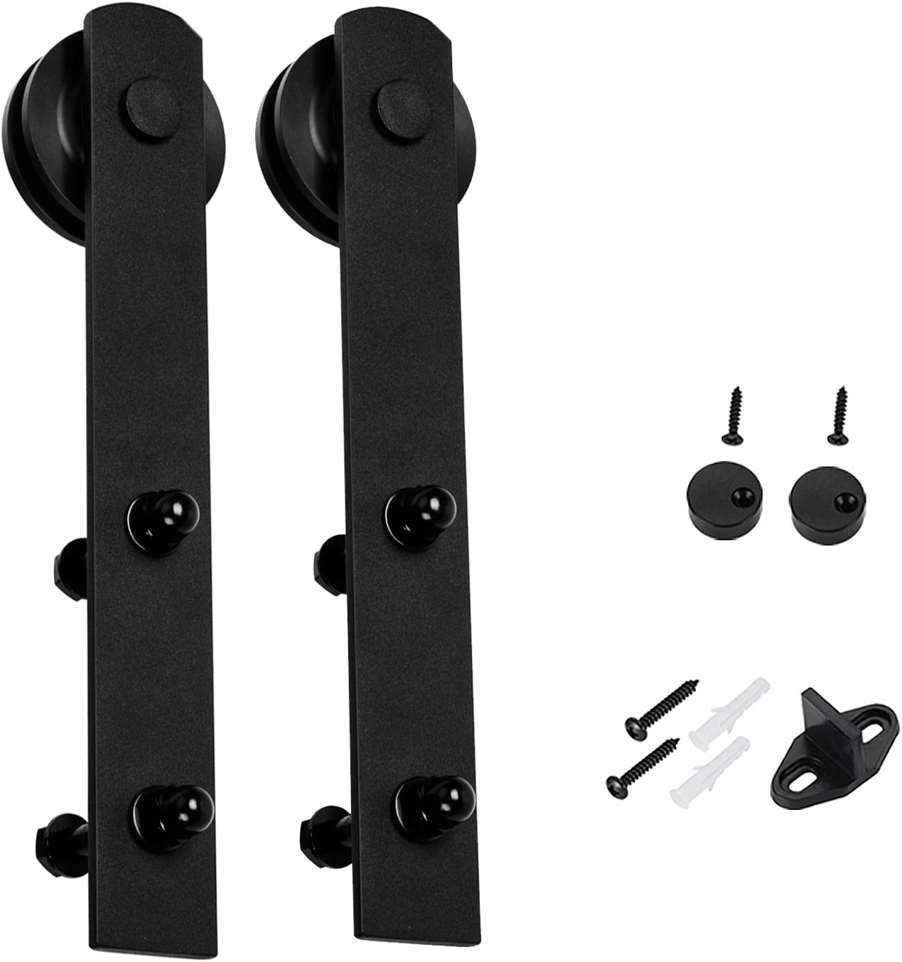 EaseLife 10 FT Heavy Duty Sliding Barn Door Hardware Track Kit,Ultra Hard Sturdy,Slide Smoothly Quietly,Easy Install,Fit up to 60 Wide Door 10FT Track Single Door Kit