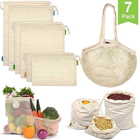 Bolsas reutilizables para productos, bolsas de malla de ...