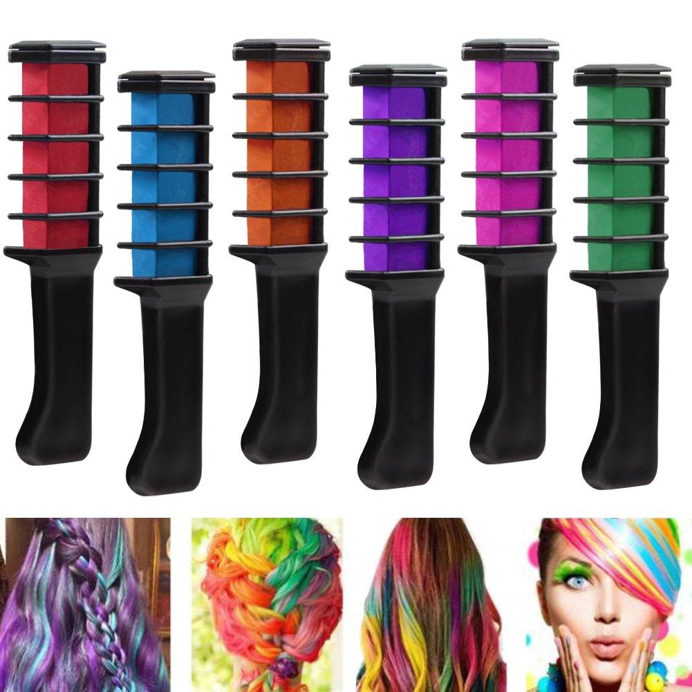 Amazon Hair Chalk 6 Count Vibrant Long Lasting Temporary Hair