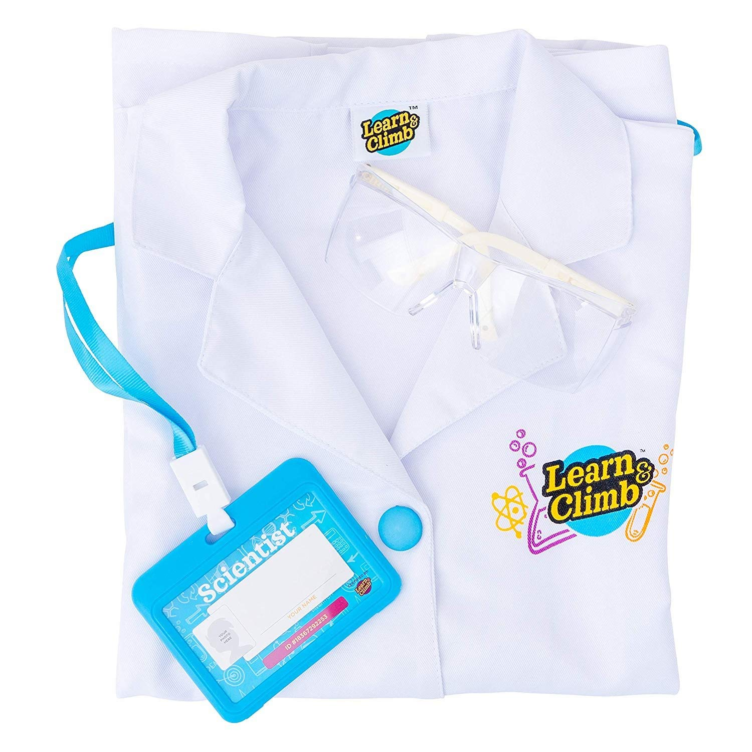 Lab Coat for Kids - Children's lab Coat with Goggles & Personalized ID Card. Great Toy for Science Projects & Experiments