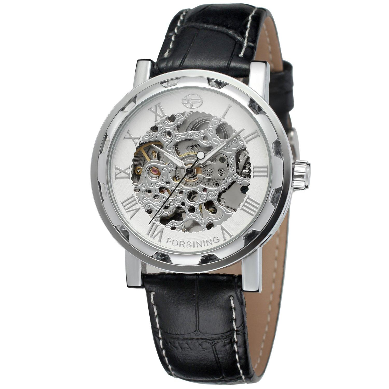 FORSININGメンズスケルトンレザー自動手首腕時計fsg8008 m3s7 B01DEWBWZM