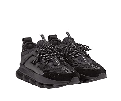 2e8b172b Image Unavailable. Image not available for. Color: Versace Men's Black Chain  Reactions Fashion Sneakers Shoes ...