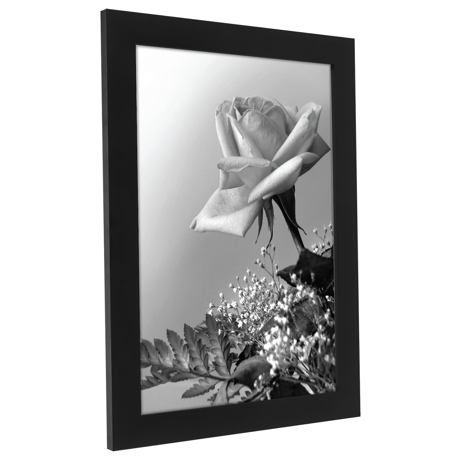 Americanflat A4 (21x29.7 cm) Black Wood Picture Frame with Glass ...