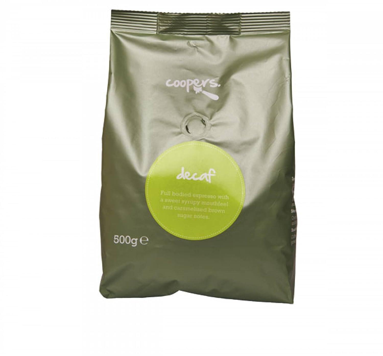 Café Intenso de Perú Coopers Descafeinado Granos de Café Espresso, Café descafeinado de grano entero, Peso neto de la bolsa 500g: Amazon.es: Alimentación y ...