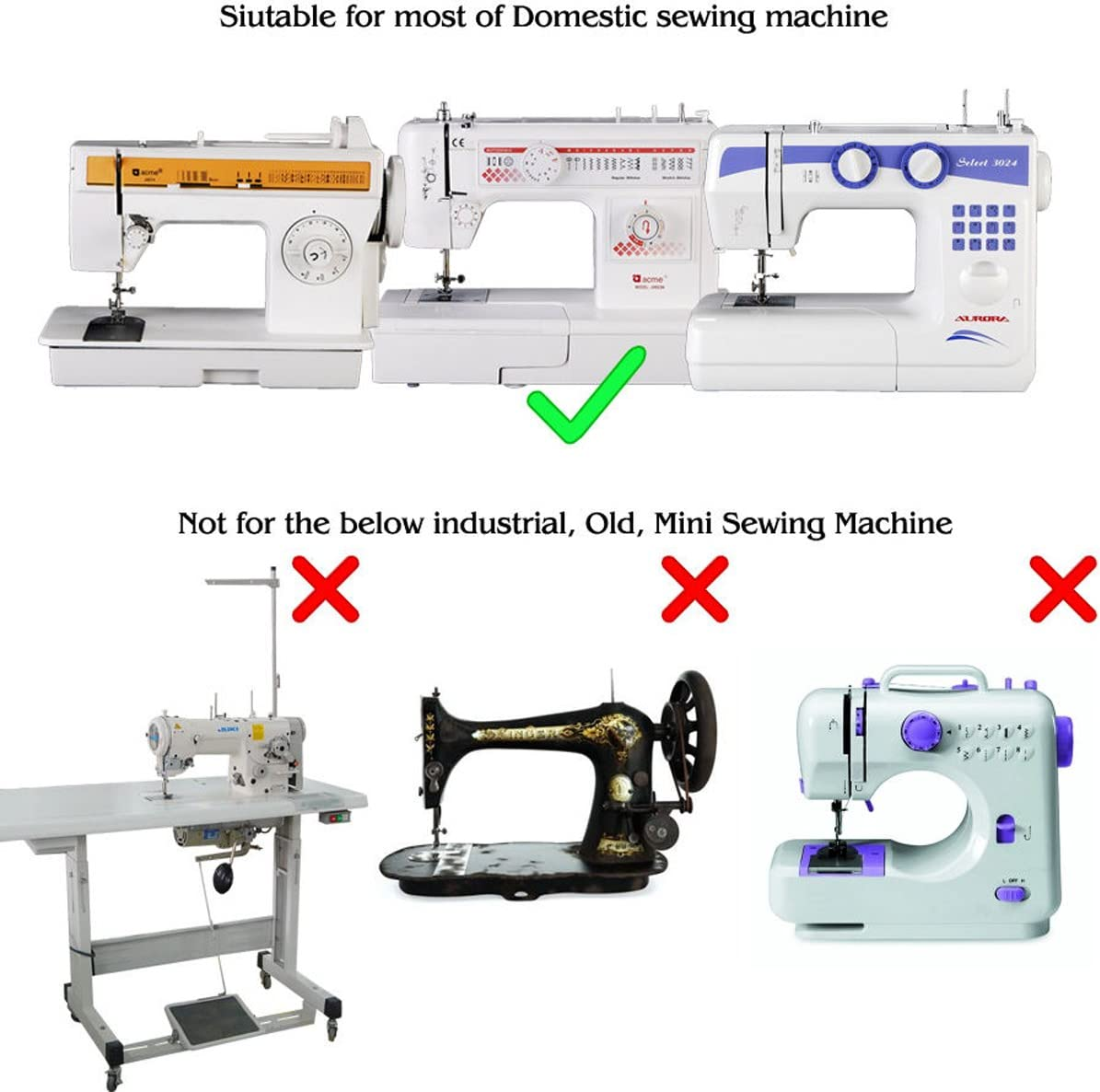 JOYOOO 32pcs doméstica Máquina de coser Presser Foot Kit para ...