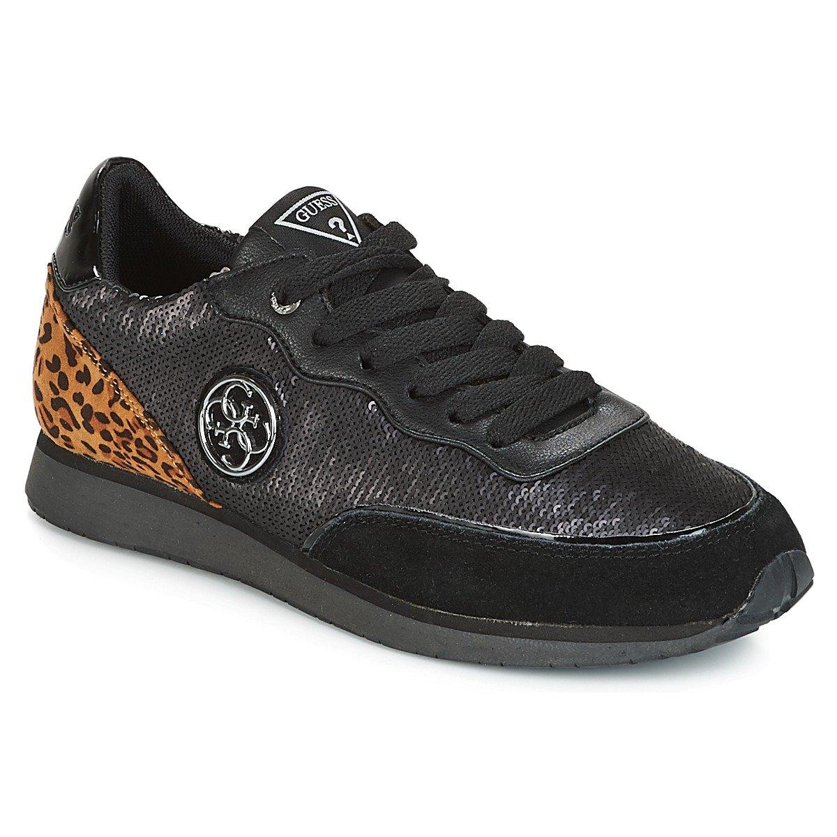 Guess Sunny, Zapatillas de Gimnasia para Mujer 41 EU Negro (Black Black)