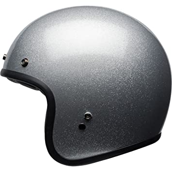 Bell Adult Custom 500 Cruiser Helmet (Silver Flake, Medium)