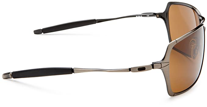 3fca68f2b7 Oakley Inmate Oo4029 Brushed Chrome Frame Dark Bronze Lens Metal Sunglasses   Amazon.co.uk  Sports   Outdoors