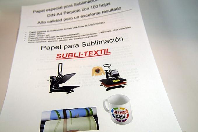Papel especial para Sublimación DIN A-3 contenido 100 HOJAS ...