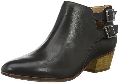 Clarks Damen Spye Astro Kurzschaft Stiefel, Schwarz (Black Leather), 39.5 EU