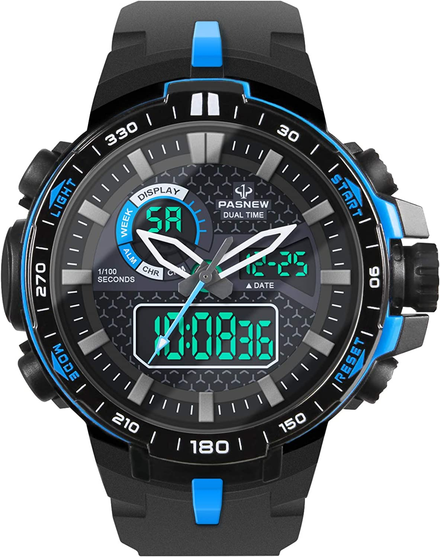 HIwatch Men s Sport Watch Military Digital Analog Watch Waterproof Multifunctional Large Compass Stopwatch Wrist Watches