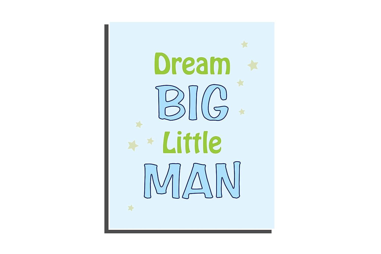 UNFRAMED Prints 8 x 10 inch Set of 4 Customize Little Boys Bedroom Kids Dinosaur D/écor Blue Green Nursery Letter Wall Art