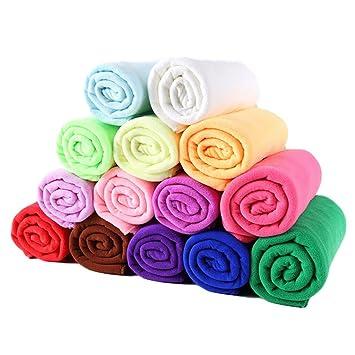 Toallas de playa,Toallas de baño Toallas de fibra ultra finas (70 * 140cm / azul / rosa ...