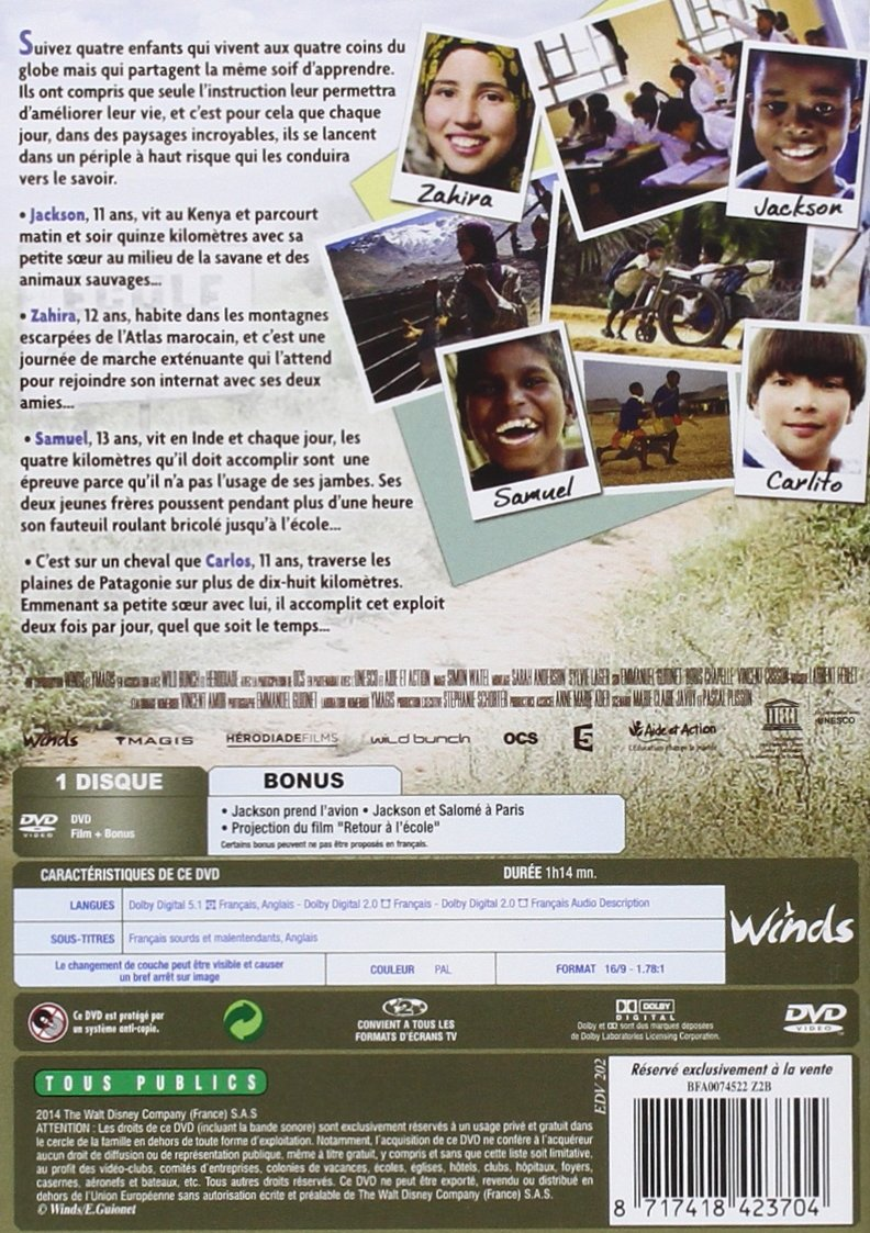 Amazon.com: On the Way to School (2014) (Sur le chemin de lécole)  [ NON-USA FORMAT, PAL, Reg.2 Import - France ]: Noura Azzagagh, Zahira Badi, Carlito, ...