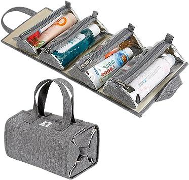 Amazon.com: Bolsa de maquillaje enrollable para colgar / Kit ...