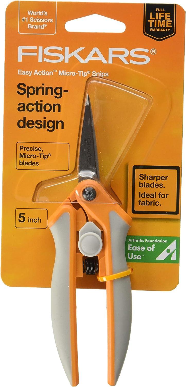 """Set of Fiskars 8/"""" Easy Action /& 5/"""" Micro-Tip Scissors w// Sheaths /& Sharpener NEW"""
