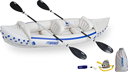 Amazon.com: Sea Eagle 330 kayak inflable con empaque deluxe ...