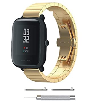 XingWangFa for Xiaomi Amazfit Straps Correas [One Bead] Stainless ...