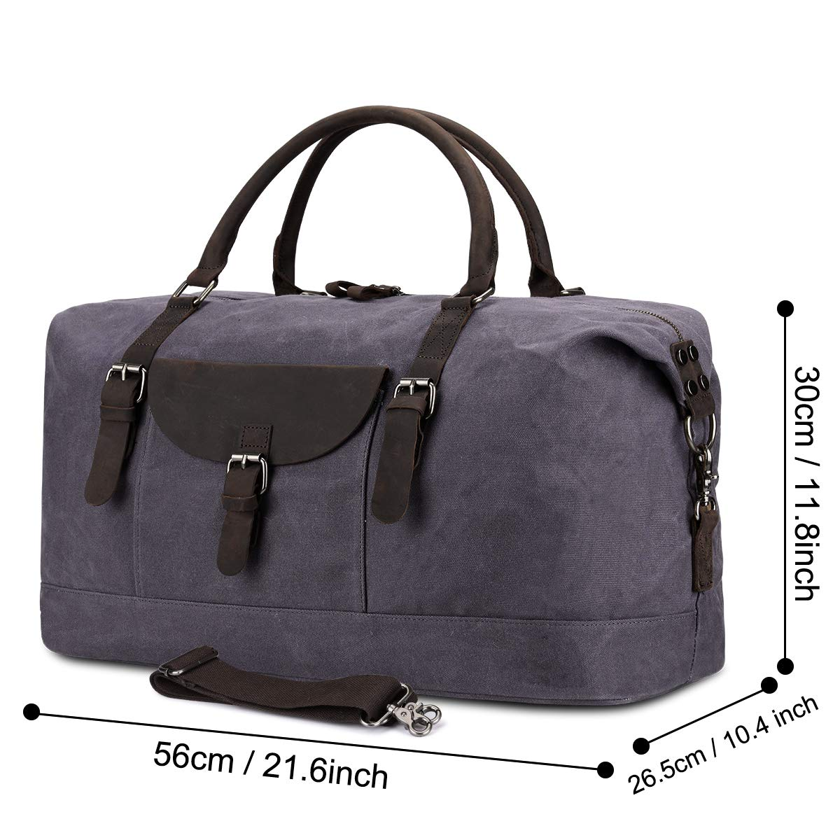 14c1c3839004 S-Zone Mens Oversized Travel Holdall Duffel Bag Waterproof Large Canvas  Weekender Vintage Leather Totes Overnight Women Hand Bag  Amazon.co.uk   Luggage