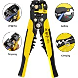 Wire Stripper 8 inch Self-adjusting Cable Cutter Crimper Automatic Wire Stripping Tool Cutting Pliers Tool for Industry 10-24 AWG(0.2-6m㎡)
