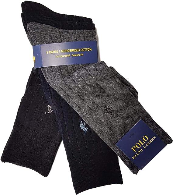 Ralph Lauren Polo Calcetines para hombre (3 pares): Amazon.es ...