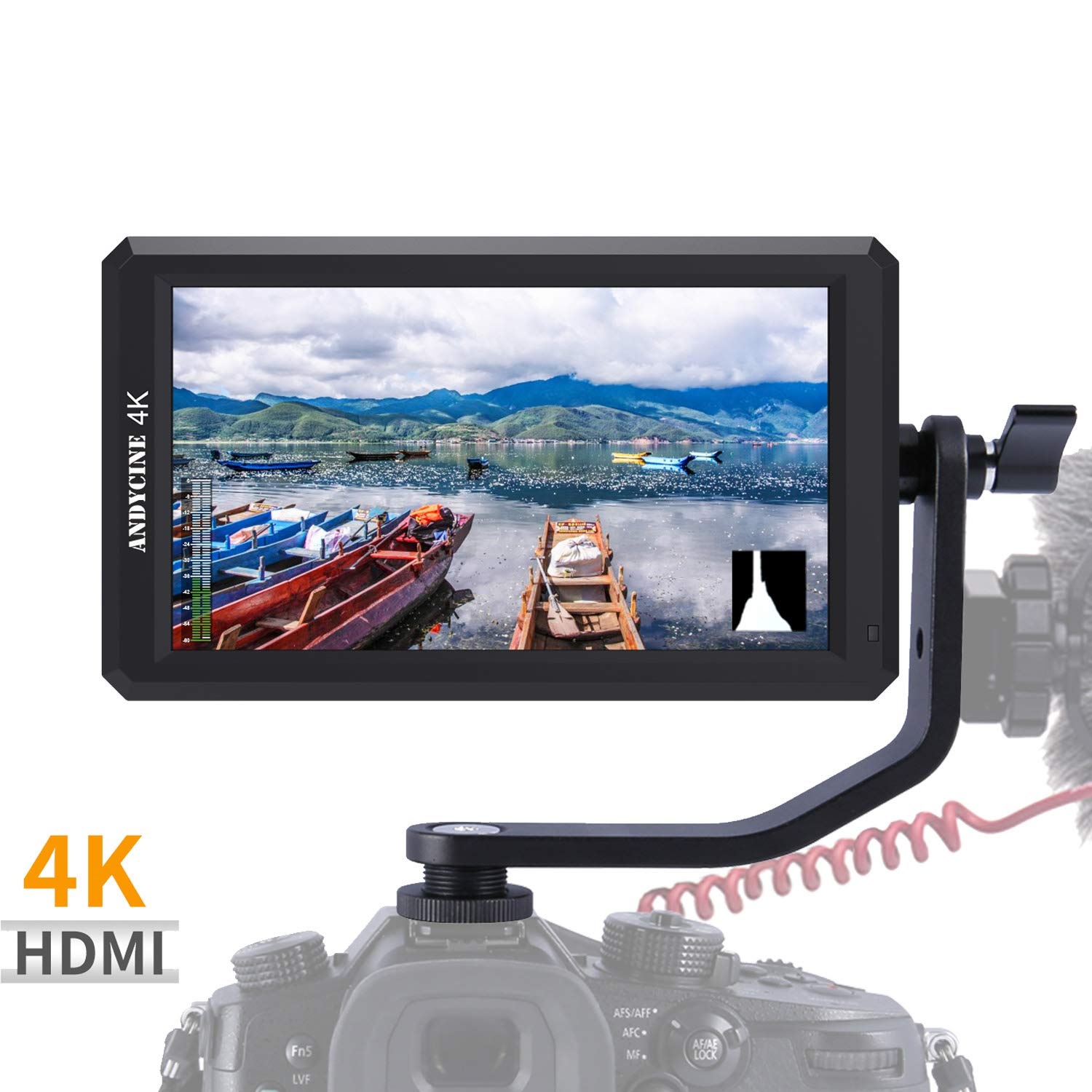ANDYCINE A6 5.7 Inch HDMI Field Monitor 1920x1080 DC 8V Power Output Swivel Arm for Sony,Nikon,Canon DSLR and Gimbals by ANDYCINE