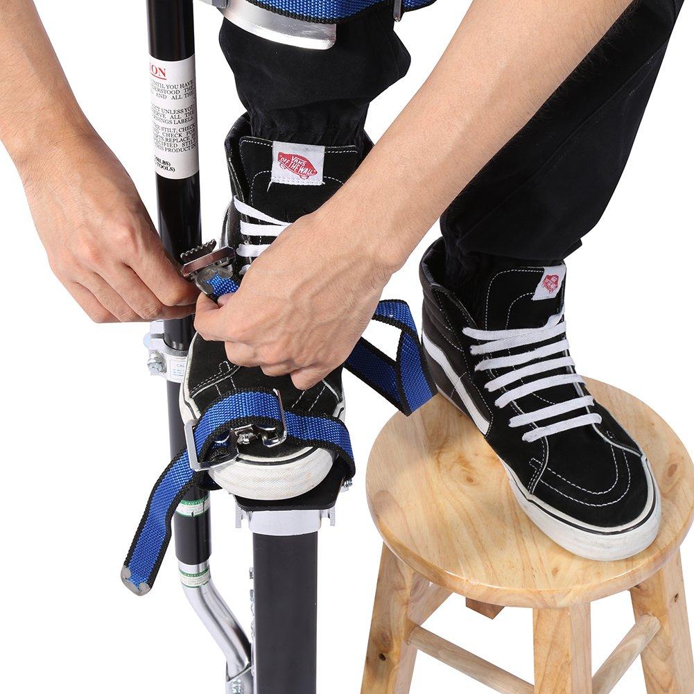 Negro Pilotes de Drywall Zancos de Revestimiento Herramienta de Pintor lyrlody Zancos de Trabajo Ajustable 61-102cm Profesional