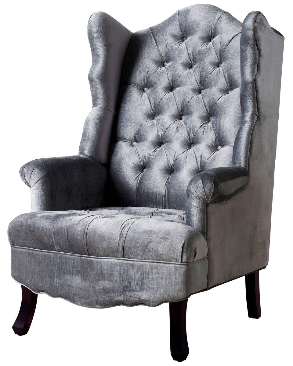 Amazon.com: TOV Furniture Madison Velvet Wing Chair, Blue: Kitchen U0026 Dining