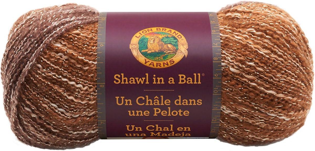 Lion Brand Yarn 828-303 Shawl in a Ball Yarn, One Size, Namaste Neutrals