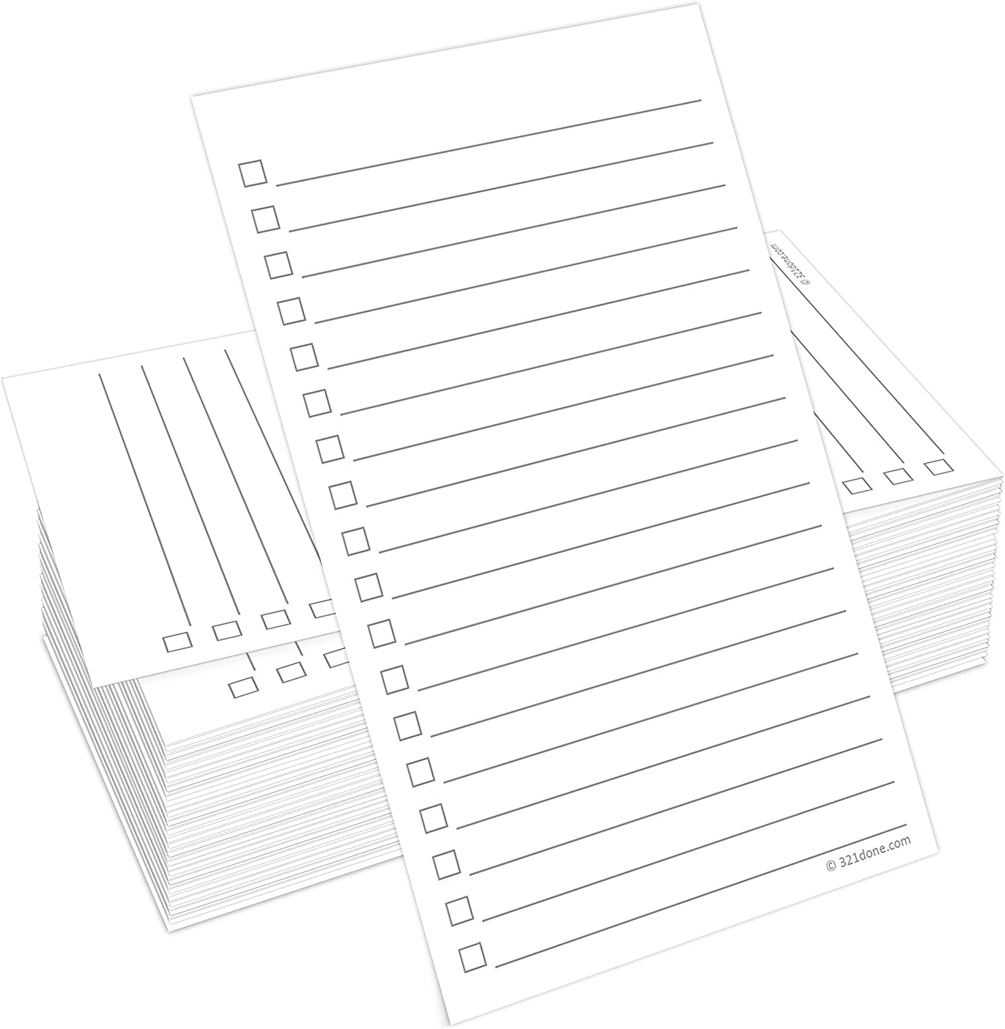 Made in The USA 3 x 5 Notecards with to Do Checkboxes Thick Card Stock Double Sided Index Cards 321Done Checklist Cards Set of 100
