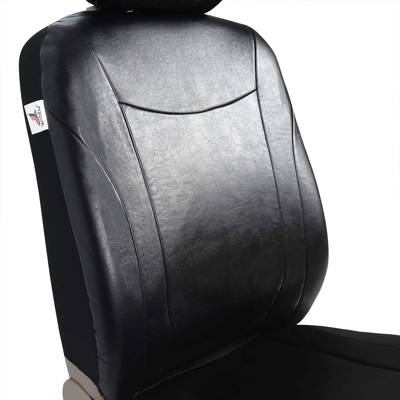 WOLTU AS7355sz Housse de si/ège pour Voiture en Similicuir sans airbag lat/éral,Noir