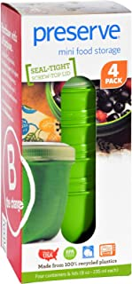 product image for Preserve Food Storage Container - Round - Mini - Apple Green - 8 oz - 4 Pack - Case of 8