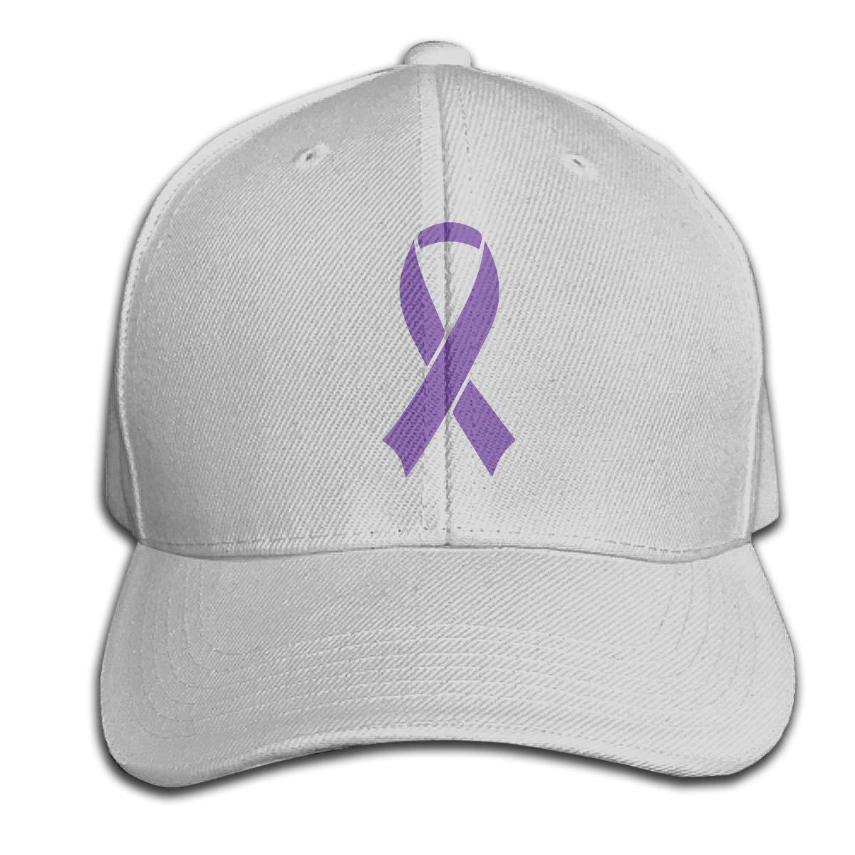 TAOHJS106 Leiomyosarcoma Cancer Awareness Ribbon Unisex Baseball Cap Adjustable Plain Hat for Women Men