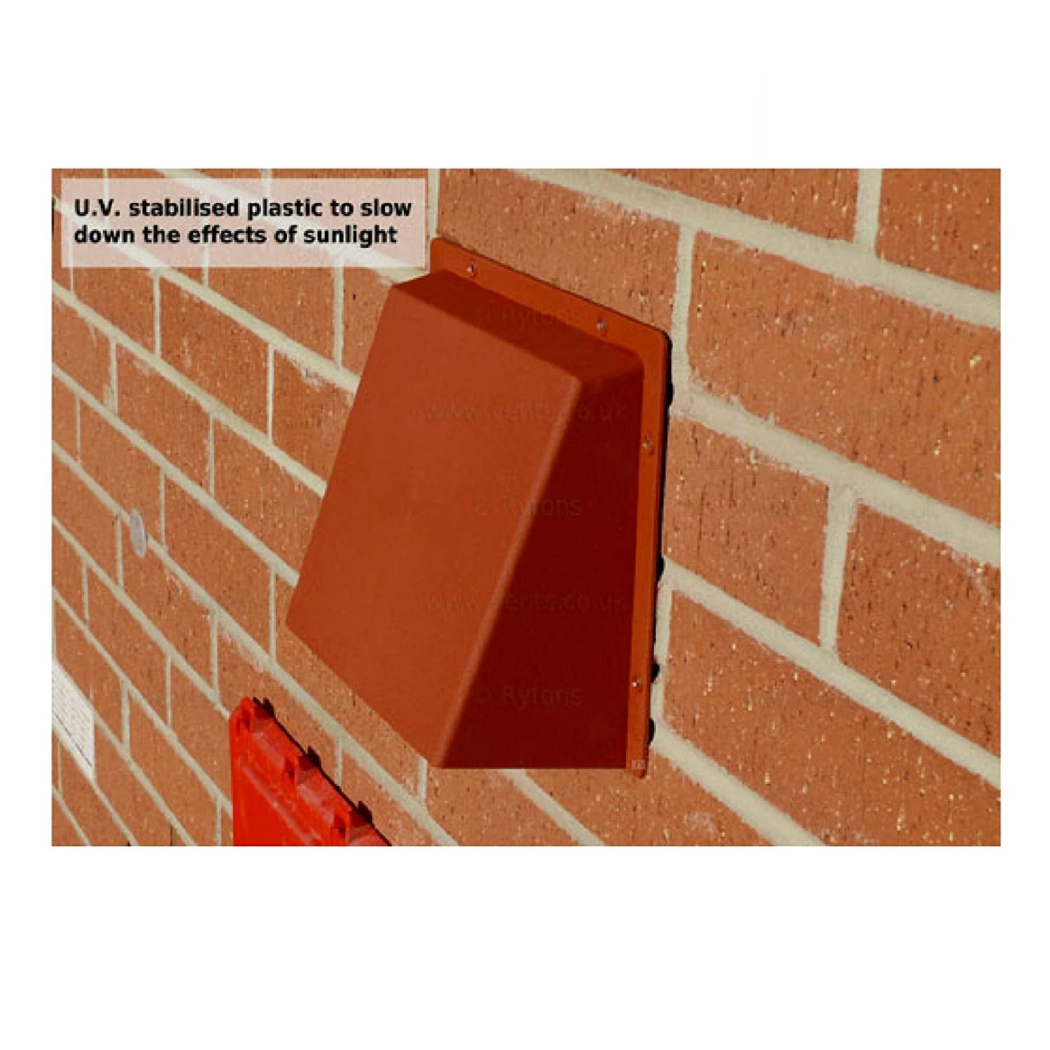 9 x 6 terracotta hooded cowl vent cover for air bricks grilles