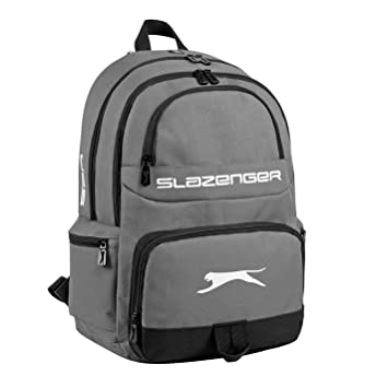 42476e5b07e Slazenger Neil Backpack Rucksack Bag Travel Equipment Accessory Tool New  Charcoal One Size