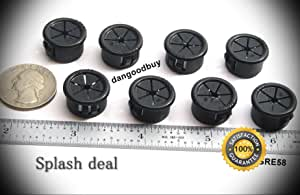 12 Snap-in Expandable Locking Plastic Grommets Fits 5//8 Opening White Nylon from DGB Company