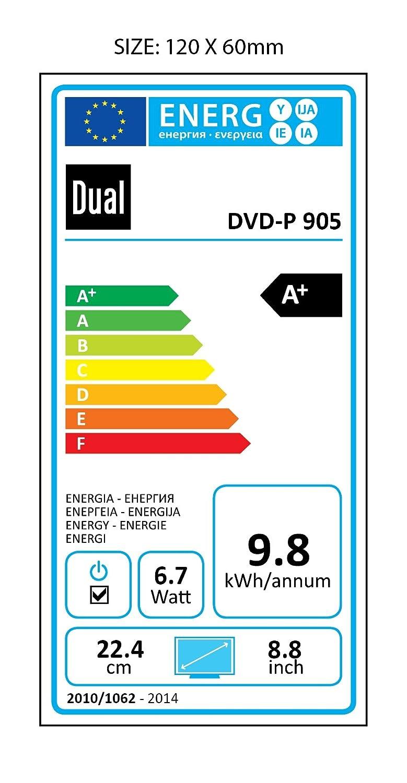 Dual Dvd P 905 Tragbarer Player 229 Cm 9 Zoll Lcd Monitor Casing Gt Pro 6 Mm Single Double Dvb T Tuner Usb Anschluss Schwarz Heimkino Tv Video