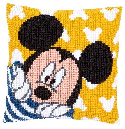 Vervaco – Kit para cojín de Punto de Cruz: cojín: Mickey – Peek-A-Boo