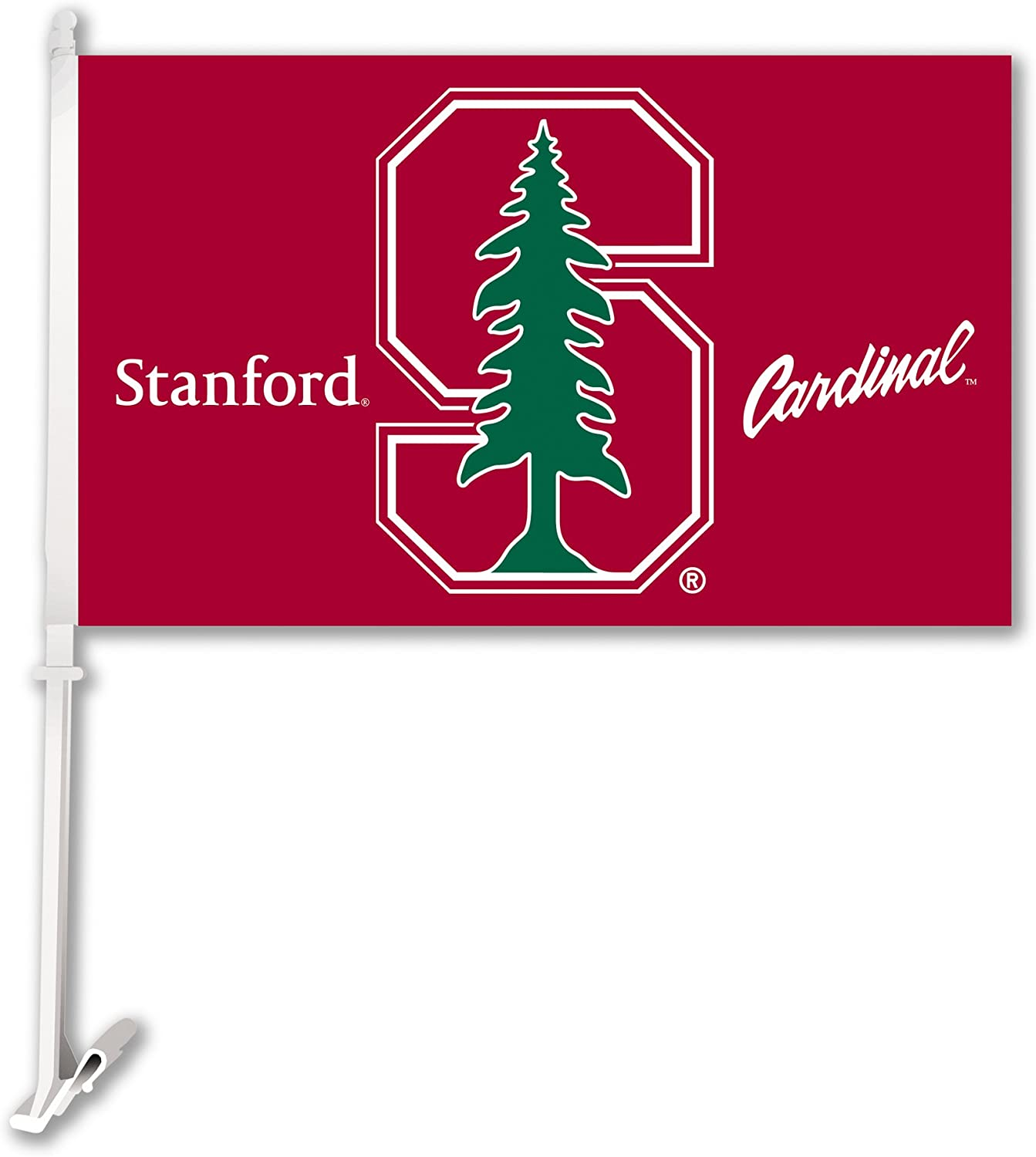 NCAA Stanford Cardinal Car Flag, Team Colors, one size